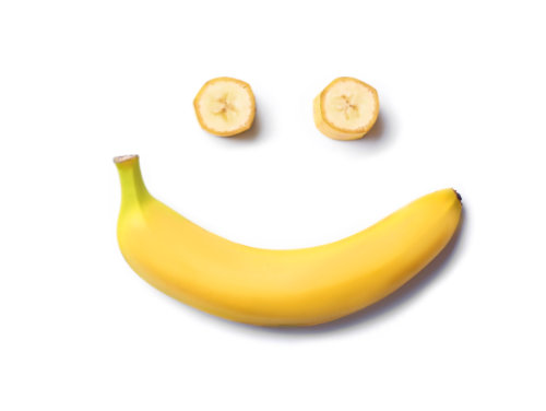 Banana that was turned into a laughing face