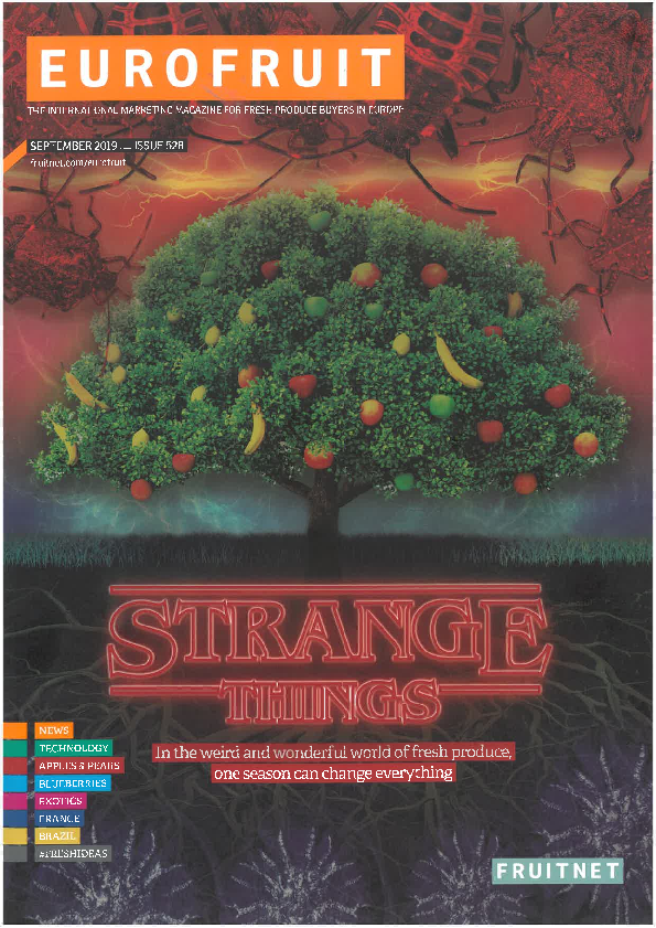 Cover of Eurofruit in autumn colours held with tree in the picture